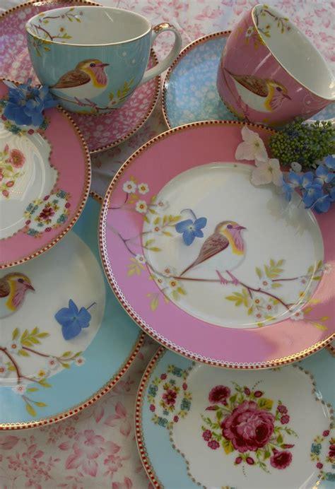 home decoration beautiful antique bird style porcelain tea beautiful dinner sets