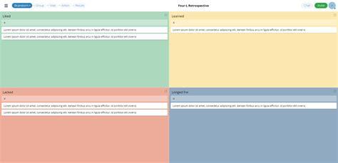 Project Retrospective Template by 4l Retrospective Template Groupmap