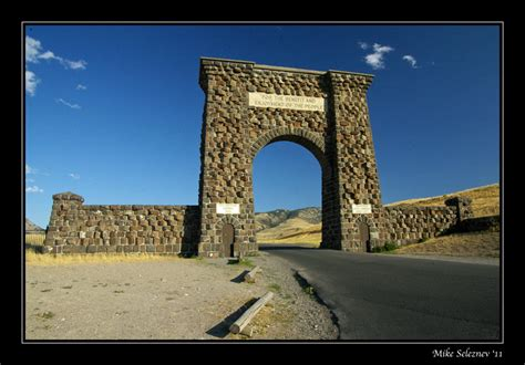 roosevelt arch roosevelt arch a photo from montana west trekearth