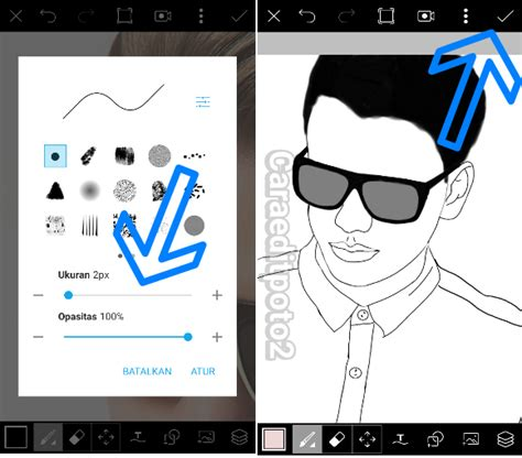 tutorial edit foto di picsart android tutorial picsart membuat foto line art di android