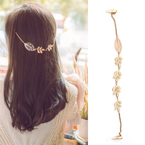Rhinestone Leaf Hair Band fashion rhinestone chain headband hair band