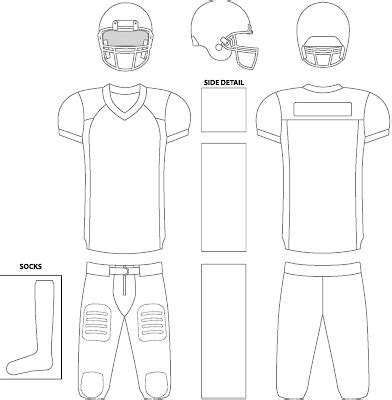 Buffalo Nickel Graphics Templates Football Jersey Template