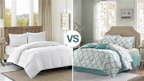 difference between duvet vs comforter overstock