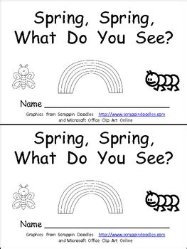 what pattern do you see spring spring what do you see kindergarten emergent