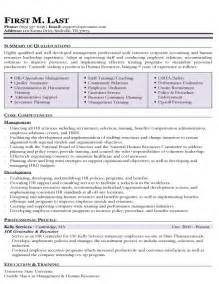 functional resume sles hr resume sles types of resume formats exles and templates