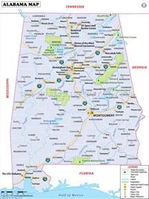 map of alabama usa maps alabama and