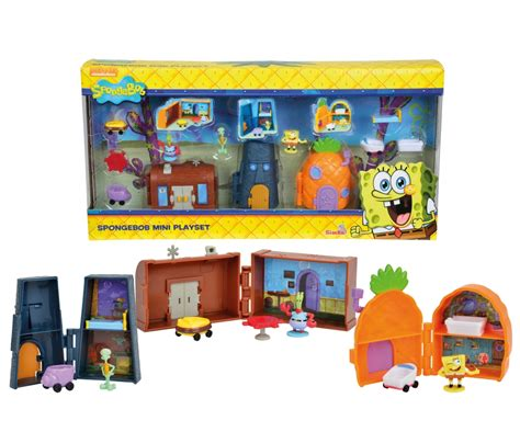 spongebob doll house sponge bob mini bikini bottom playset spongebob brands