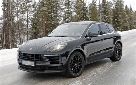 Test Porsche Macan by 2018 Porsche Macan Facelift Spied Undergoing Winter