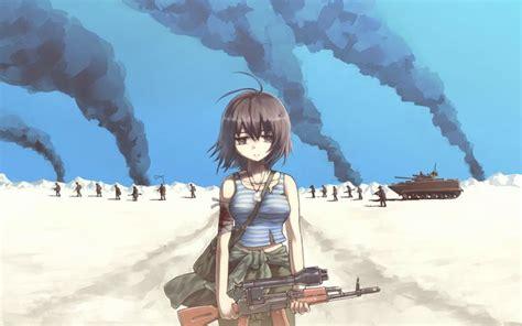 anime soldier girl wallpaper anime soldier girl desktop wallpaper 1920x1200 jpg 1920