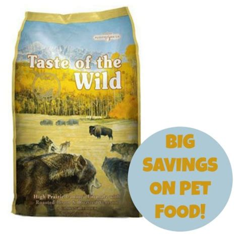 dog food coupons taste of the wild amazon prime 20 off pet food taste of the wild dog