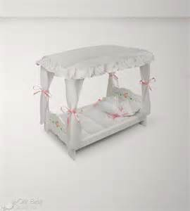 Doll Bed Canopy by Badger Basket Doll Canopy Bed White Rose