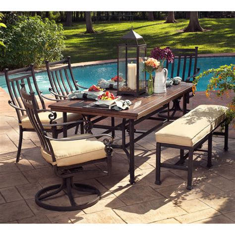 Dining Table With Bench Costco Patio Dining Sets Costco