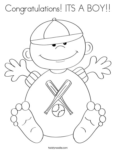 coloring page it s a baby girl congratulations baby coloring pages