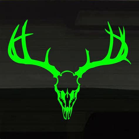 deer buck skull fluorescent neon green 16 quot x13 quot hunting