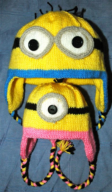 minion knitting pattern dk knitting pattern minion style hat mittens knits