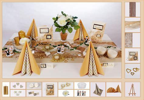 Tischdekoration Goldene Hochzeit by Tischdeko Goldene Hochzeit 4 In Dune Als Mustertisch
