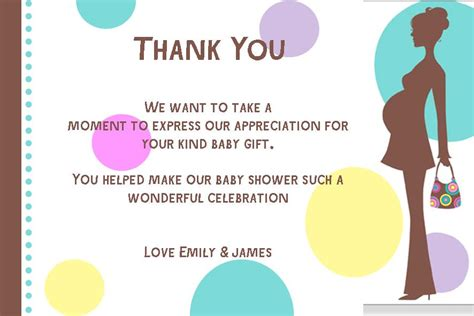Free Thank You Card Templates Baby Shower by Free Baby Shower Thank You Card Etiquette Anouk Invitations