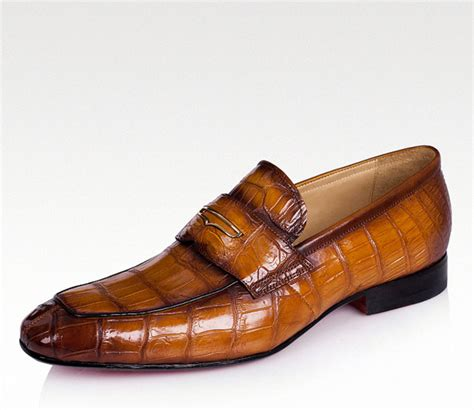 Crocodile Freed Casual Slip On casual alligator shoes luxury alligator slip on loafers for