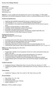 Resume Sample Sample To Write A Resume For Store Manager