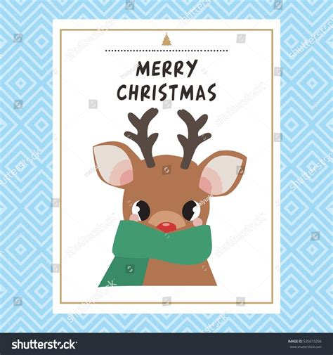 reindeer card template reindeer card template stock vector
