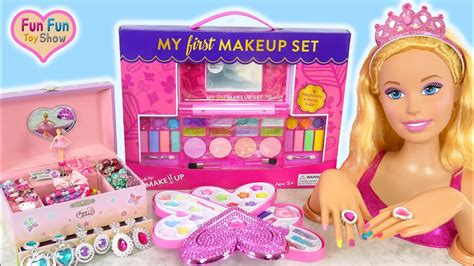 1 Set Makeup Makeover styling doll makeover deluxe makeup cosmetic