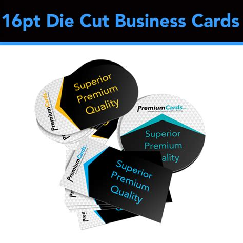 die cut business cards templates 16pt die cut business cards premiumcards net premium