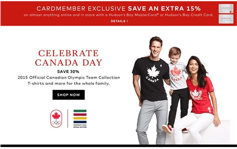 Hudson S Bay Canada Offers - hudson s bay canada canada day offers save 30 on 2015