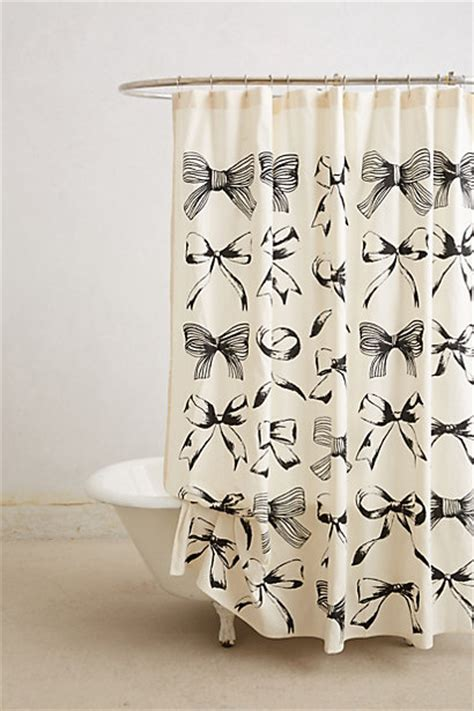 anthro shower curtain bow tie shower curtain anthropologie com