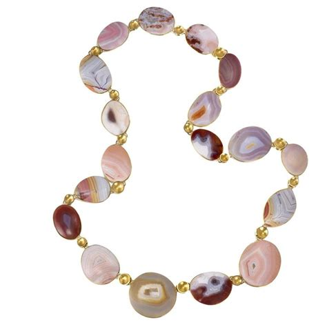 one bead necklace tom and jutta munsteiner agate and gold bead necklace for
