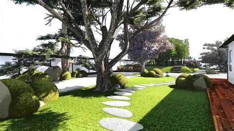 modern japanese garden youtube