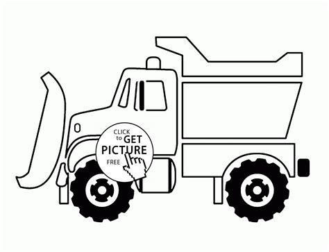 snowplow coloring pages