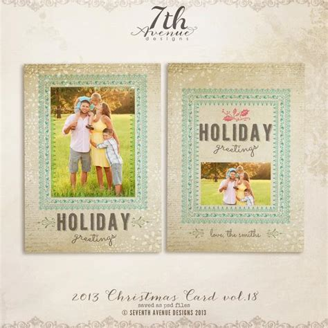Items Similar To Instant Download 2013 Christmas Card Templates Vol 18 5x7 Inch Card Template Etsy Card Templates