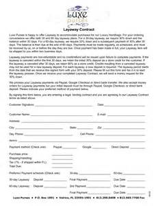 Layaway Agreement Template by 8 Best Images Of Layaway Agreement Forms Printable Free