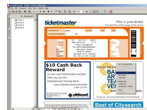 ticketmaster ticket template image collections templates