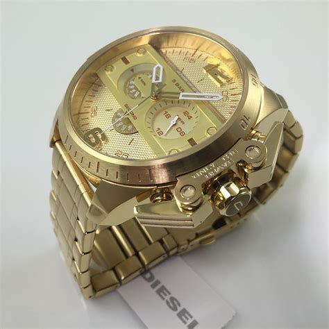s diesel ironside gold chronograph dz4377