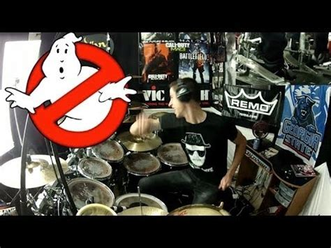 theme song ghostbusters ghostbusters theme song drum cover ray parker jr