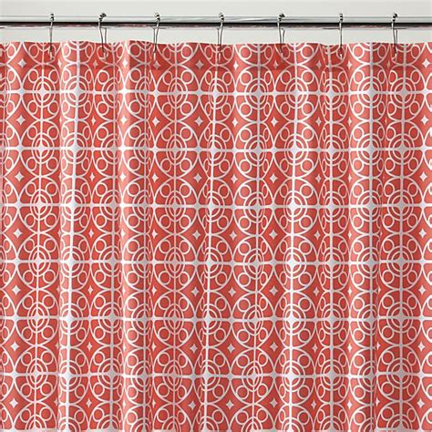 Coral Patterned Curtains White And Coral Curtains Html Myideasbedroom