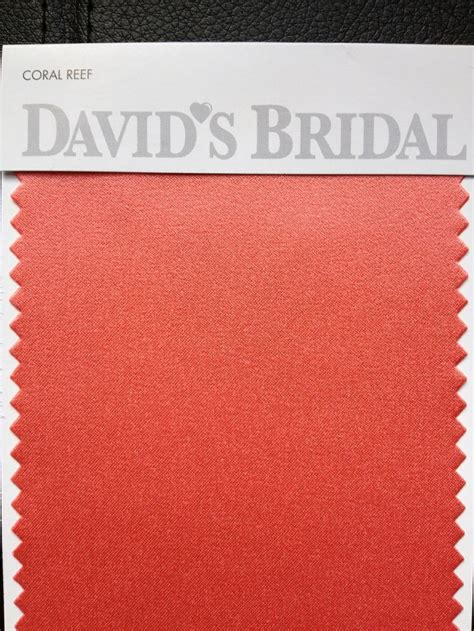 coral reef color swatch david s bridal glam squad