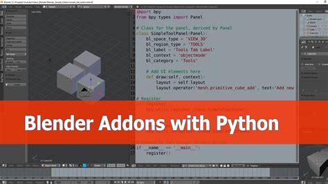 blender 3d python tutorial blender addon programming tutorial blendernation