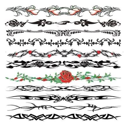 20 latest wristband tattoo designs