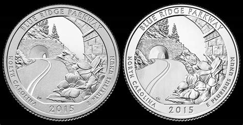 blue and the quarters three coin set of 2015 blue ridge parkway quarters coin news