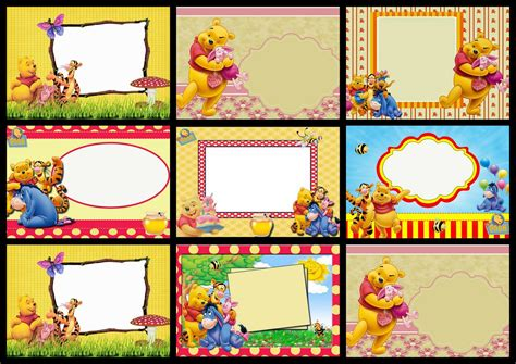 winnie the pooh happy birthday card template free printable winnie the pooh birthday invitations