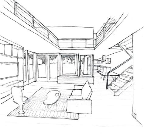How To Draw Interior Perspective From Plan by House A Day Everyday Design