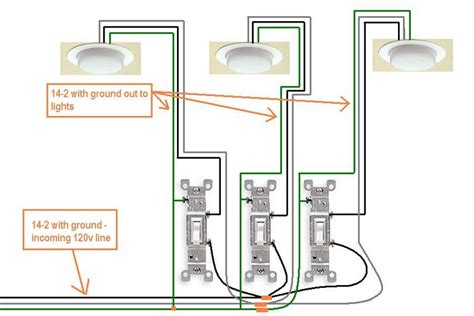 how to wire 3 light switches in one box diagram wiring