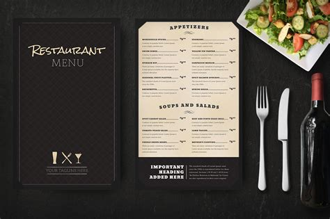 menu design mockup restaurant menu mockup product mockups on creative market