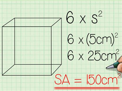 Comment Calculer Un Metre Carré 5478 by 2 Easy Ways To Find The Surface Area Of A Cube Wikihow