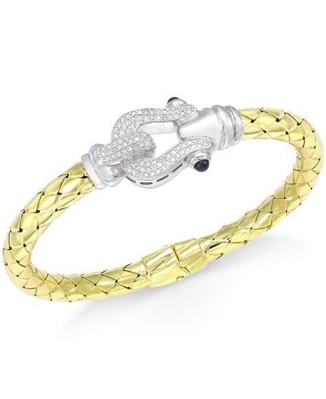 macy s horseshoe bangle bracelet 1 2 ct t w in