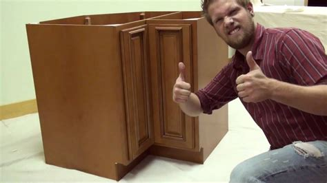 installing lazy susan corner cabinet elite line lazy susan assembly instructions maple glaze