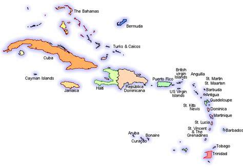 mapa america central y antillas caraibi