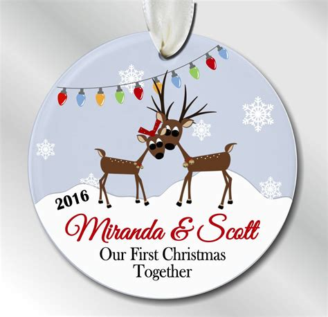 our first christmas together ornament reindeer couple